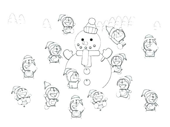 580x435 Snow Day Coloring Pages Professional