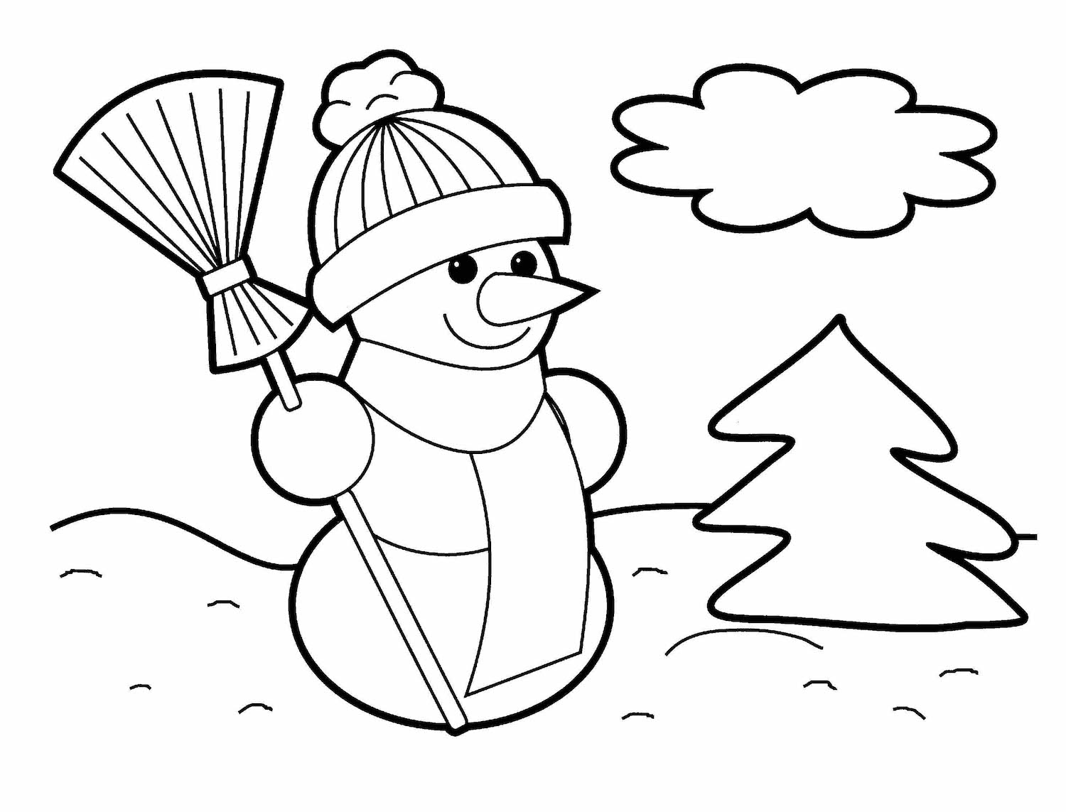 1500x1143 Christmas Coloring Pages