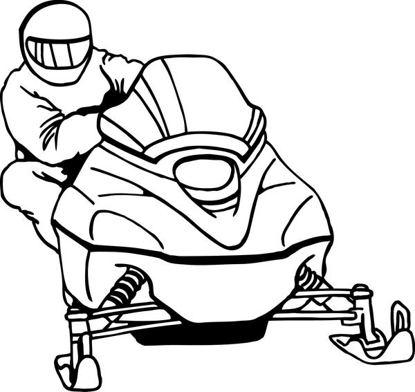 600x567 Snowmobile Clip Art Many Interesting Cliparts