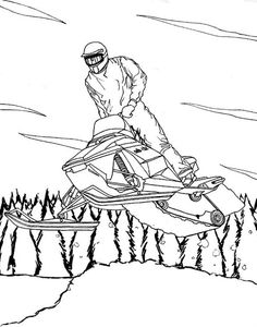 236x300 Snowmobile Coloring Pages
