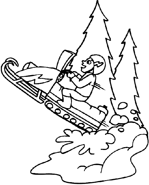 522x650 Snowmobile Coloring Pages Snowmobile Skidoo Transportation