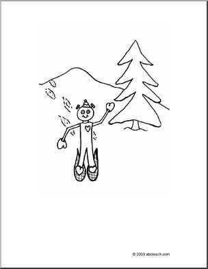 304x392 Best Snowshoe Images On Winter Activities, Preschool