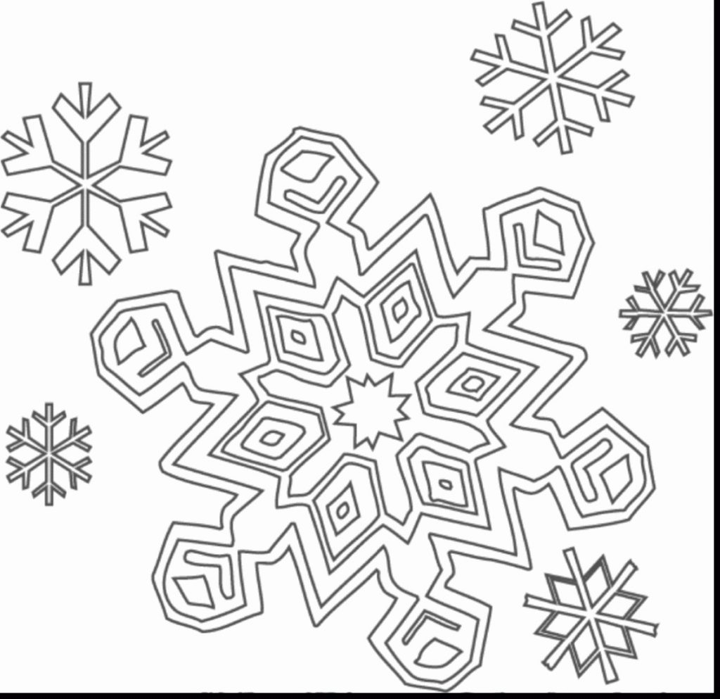 1024x993 Snow Flake Coloring Pages