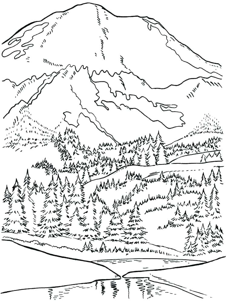 750x1000 Snowy Coloring Pages Coloring Pages Mountains Mountains Coloring