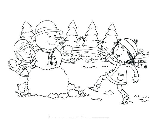 530x410 Snowy Coloring Pages Weather Coloring Pages Snowy Day Coloring