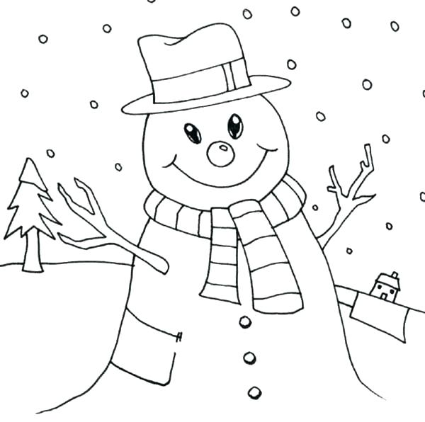 600x596 Coloring Page Snowman Snowy Coloring Pages Snowman On Love Snowy