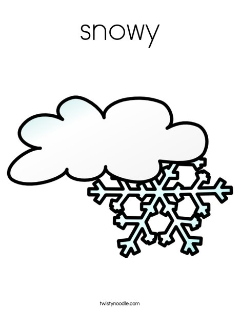 468x605 Snowy Coloring Page