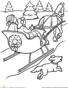 236x308 Snowy Day Coloring Page Worksheets, Activities And Color Activities