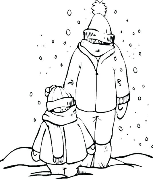 533x626 Snowy Day Coloring Page Snow Day Coloring Page Snowy Day Colouring