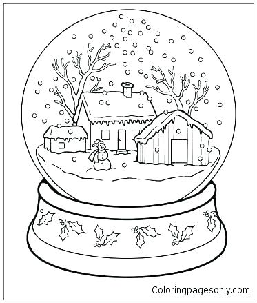 373x439 Snowy Day Coloring Page Snowy Coloring Pages Snow Day Coloring