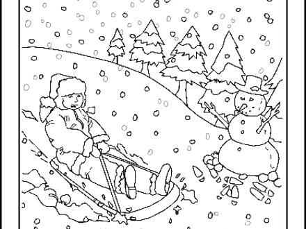 440x330 Snowy Day Coloring Page Weather Coloring Pages For Kids Printable