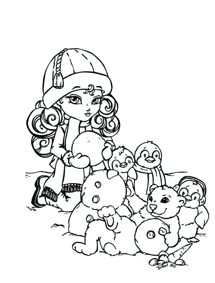 736x967 Snowy Day Coloring Snowy Day