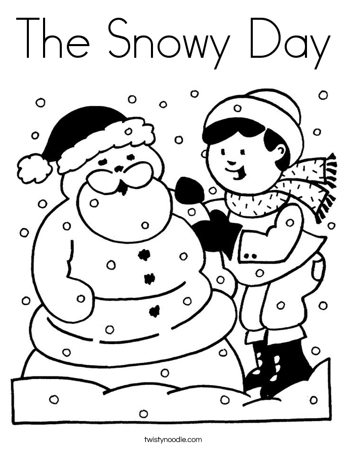 685x886 The Snowy Day Coloring Page