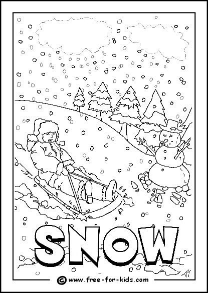 415x586 Image Of Snowy Day Colouring Page Homeschooling