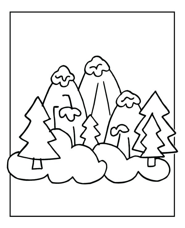 600x738 Snow Day Coloring Pages New Snowy Day Coloring Page Snowy Winter