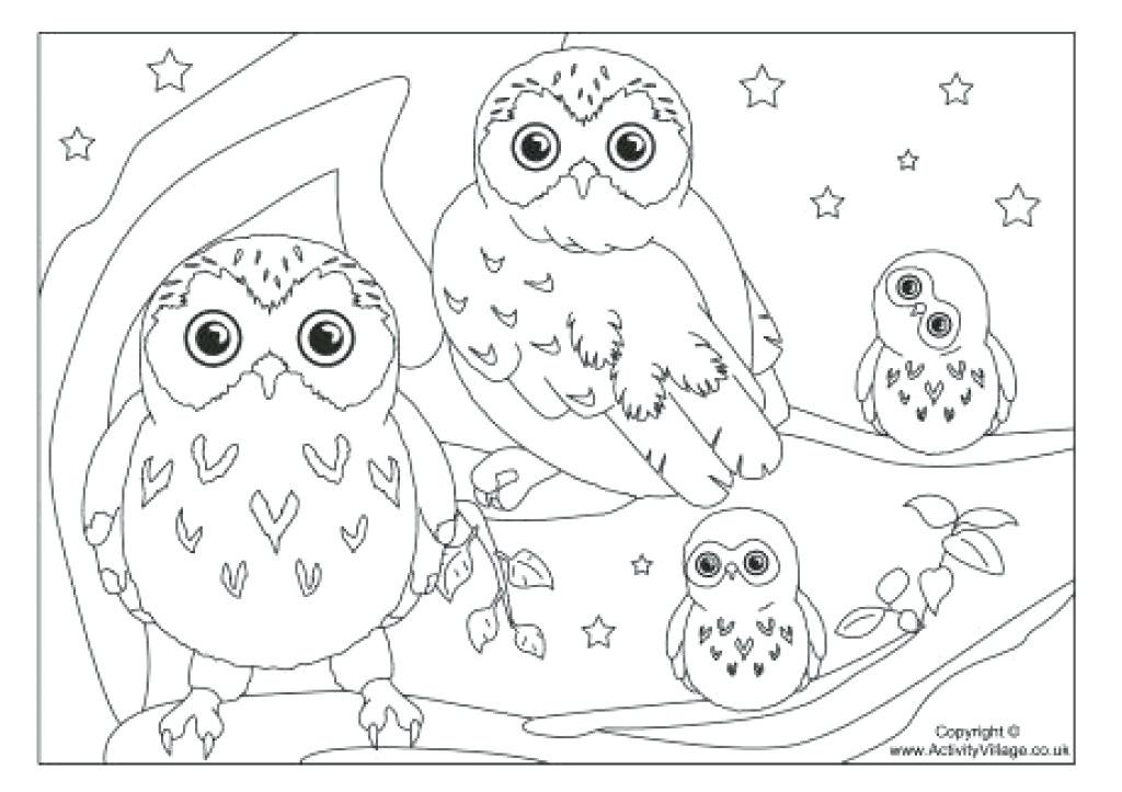 1024x723 Owls Coloring Pages Coloring Pages Of Owl Bies Owl Coloring Page