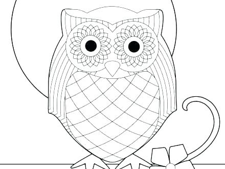 440x330 Snowy Owl Coloring Page Printable Owl Coloring Pages Snowy Owl