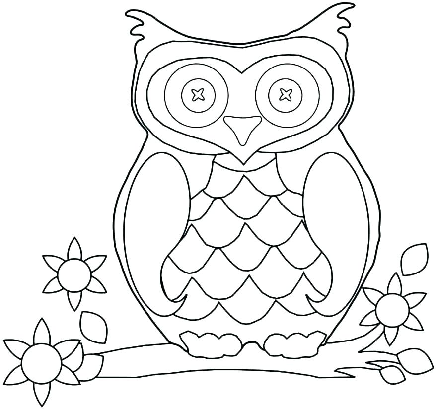878x824 Snowy Owl Coloring Pages Owl Pictures To Color Packed With Snowy