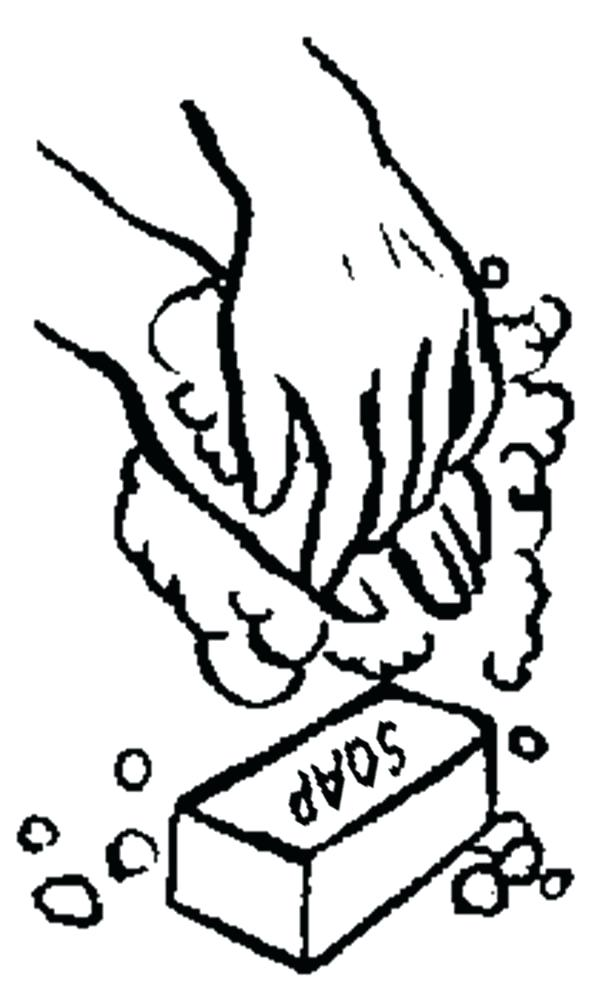600x1000 Handwashing Coloring Pages Hand Washing Keep Your Hand Clean