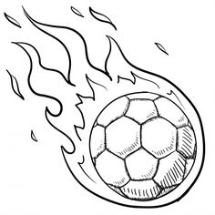 236x236 Enjoyable Ideas Soccer Ball Coloring Page Pages In Fire