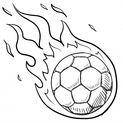 500x500 Soccer Ball In Flames For Kids Kids Soccer And Soccer Ball