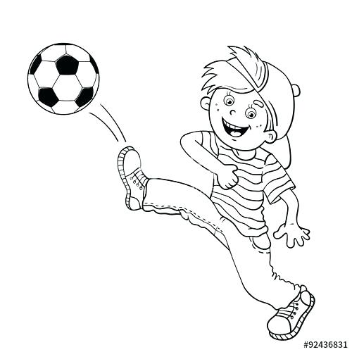 500x500 Sports Balls Coloring Pages Soccer Ball Coloring Page Coloring