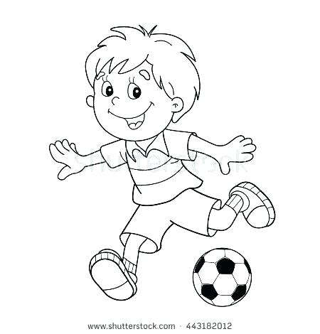 450x470 Soccer Ball Coloring Page