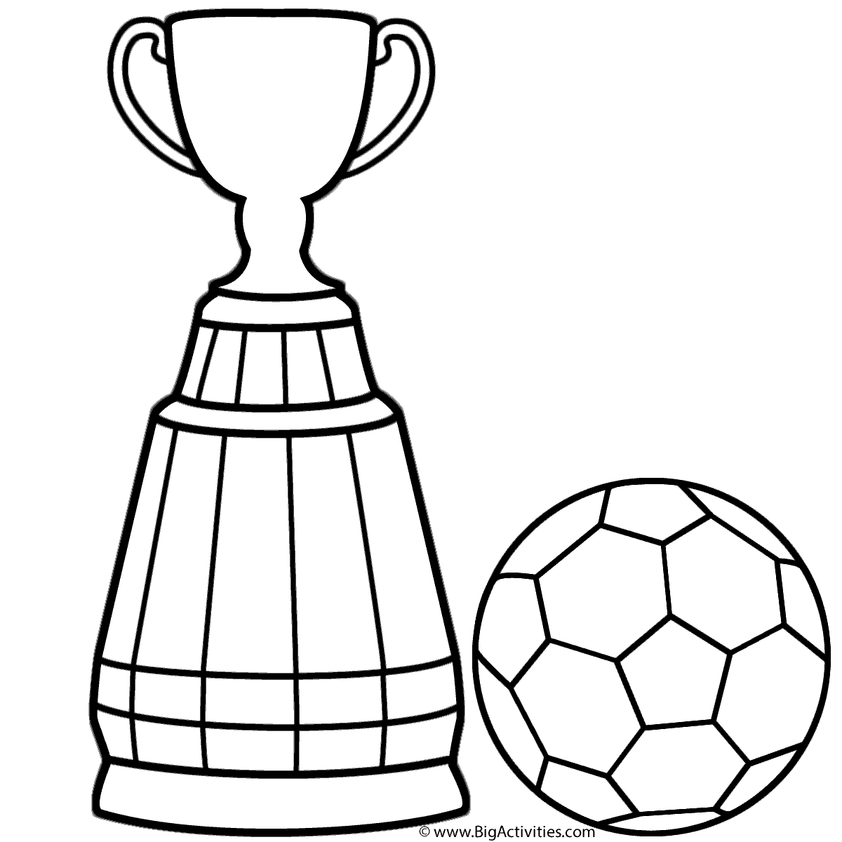 1200x1200 World Cup Trophy With Soccer Ball Coloring Page World Cup Soccer