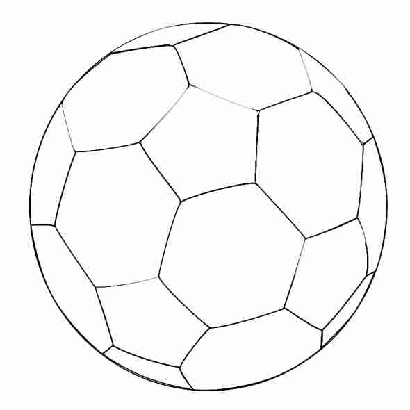 590x590 Captivating Soccer Ball Coloring Page For Your Pages