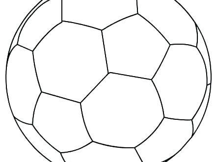 440x330 Coloring Pages Of Soccer Balls Soccer Ball Coloring Page Coloring