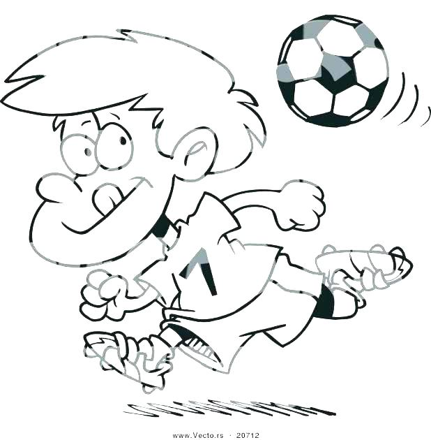 618x630 Coloring Pages Of Soccer Playing Soccer Playing Soccer Coloring