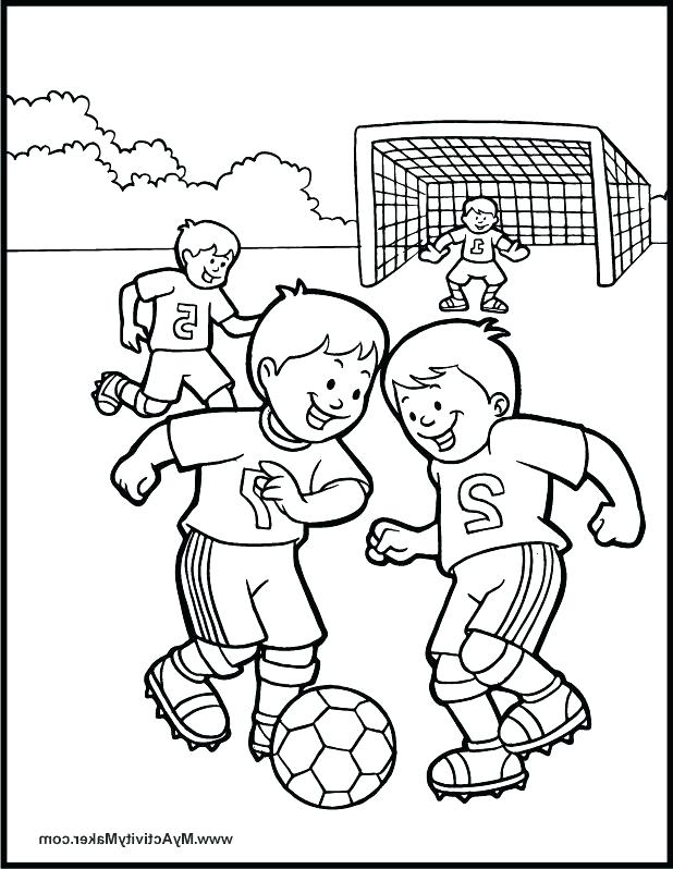 618x798 Soccer Fun Coloring Page Coloring Pages Soccer The Explorer
