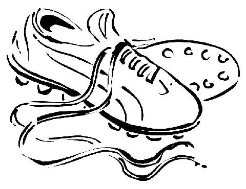 480x370 Cleats Bunny Shoe And Ball, Soccer Shoes Coloring Pages