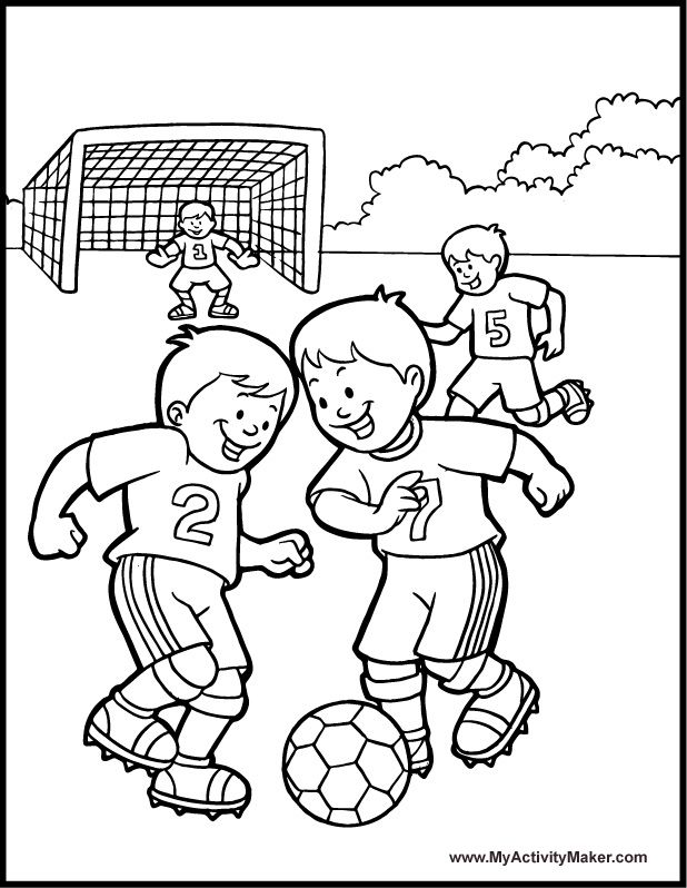 Soccer Coloring Pages For Adults