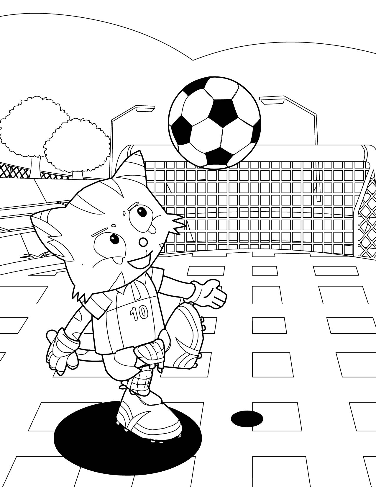 1275x1650 Soccer Coloring Pages