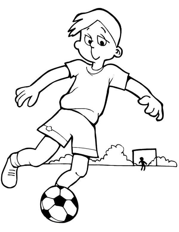 600x777 Soccer Coloring Pages Printable