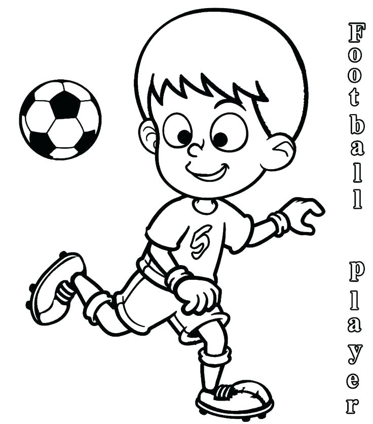 736x835 Soccer Player Coloring Pages Printable Football Player Coloring
