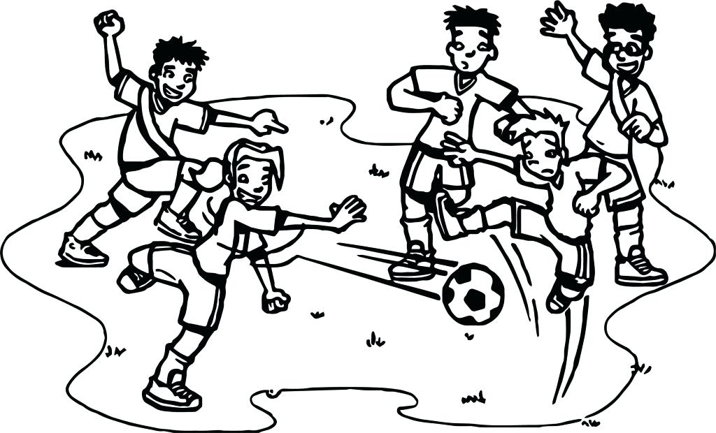 1024x620 Soccer Coloring Pages Playing Soccer Coloring Pages General Soccer
