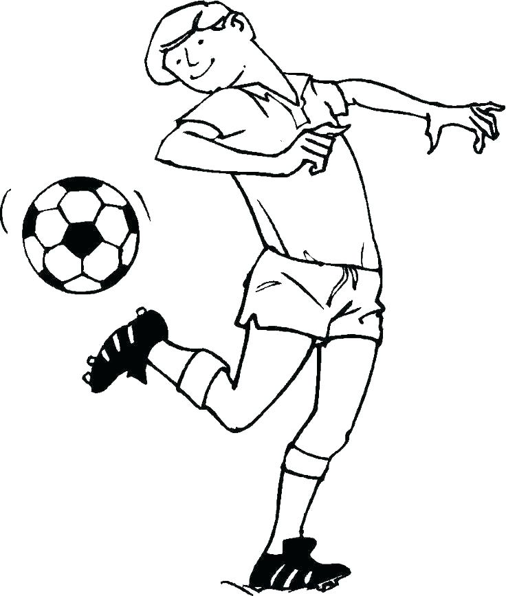736x867 Soccer Player Coloring Pages Coloring Pages Soccer Soccer Players