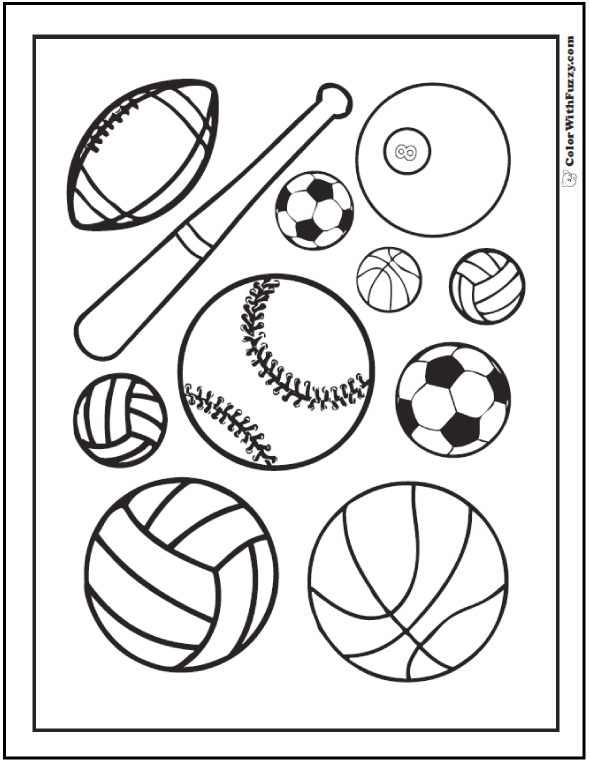 Soccer Field Coloring Page