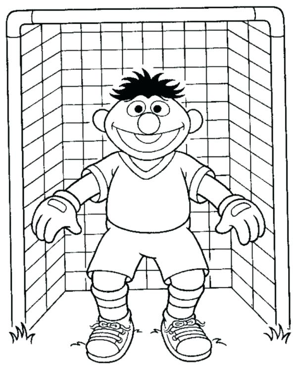 600x747 Coloring Pages Soccer Soccer Coloring Page Sesame Street Goal