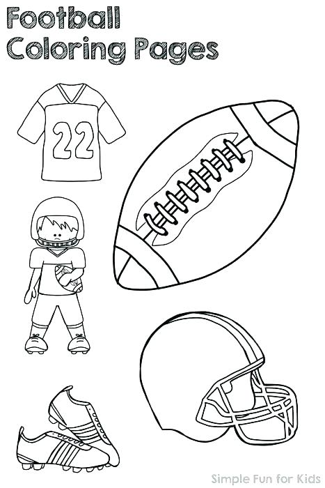 467x700 Football Field Goal Coloring Page Stadium