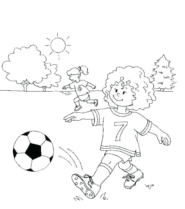 600x678 Printable Soccer Field Dimensions Kids Coloring Soccer Players
