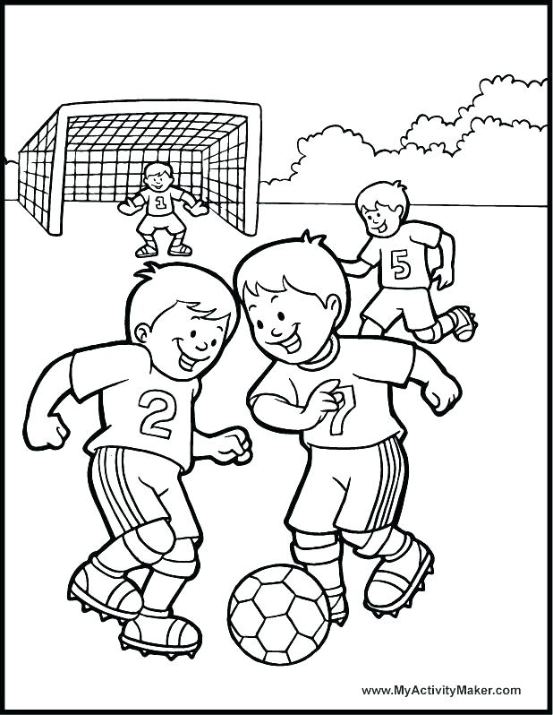 618x798 Coloring Pages Soccer