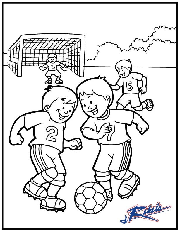 615x791 Soccer Field Coloring Page Football Field Coloring Page Printable