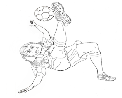 400x322 Girl Coloring Soccer Sheets Page Image Clipart Images