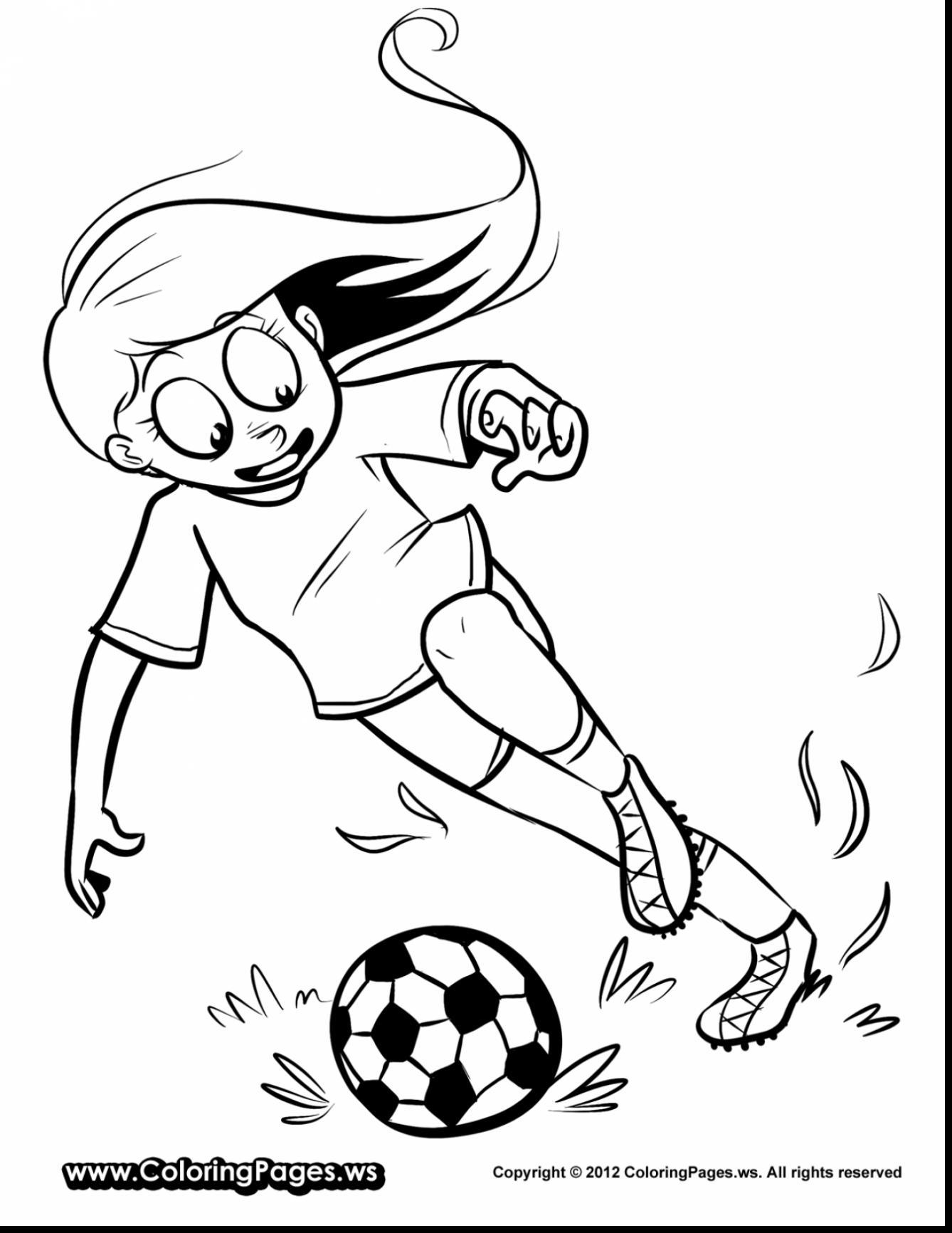 1338x1732 Shocking Extraordinary Girl Soccer Player Coloring With Pict