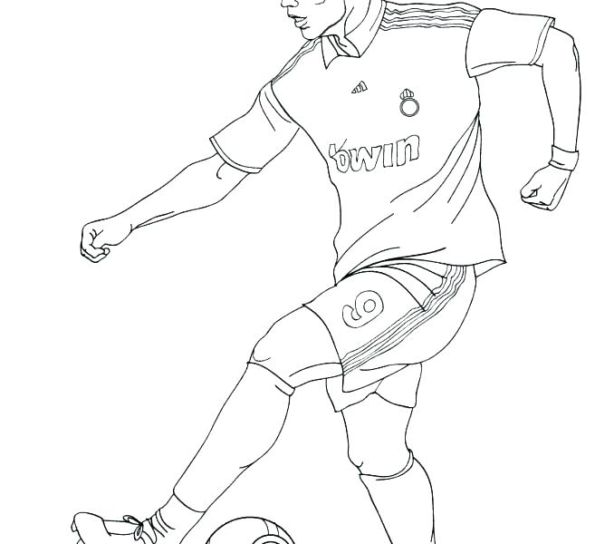 678x600 Soccer Players Coloring Pages Football Player Coloring Page