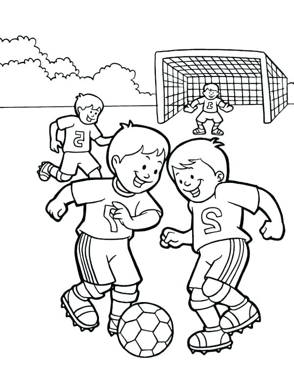 600x775 Soccer Players Coloring Pages Free Printable Soccer Coloring Pages
