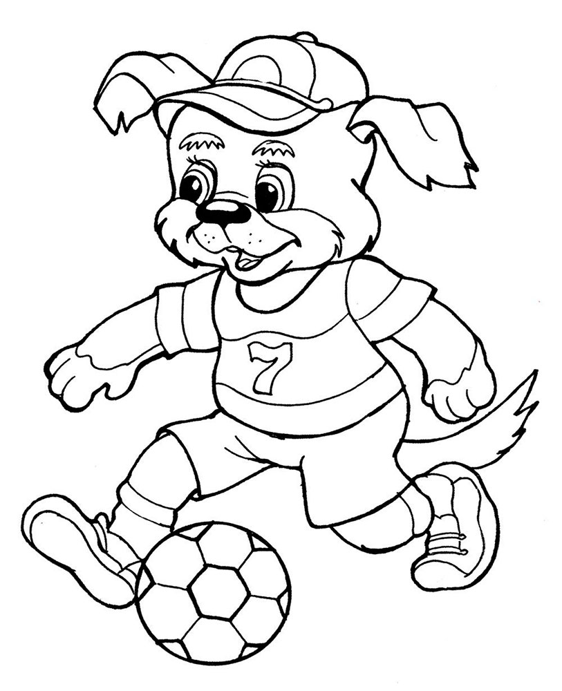 813x1000 Soccer Player Coloring Pages